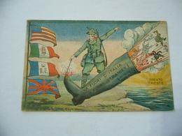 WW1 Cartolina Illustrata 1918 VA FUORI D'ITALIA STRANIER ! - ALPINI - - Guerra 1914-18