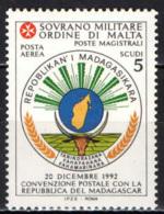 SMOM - 1994 - CONVENZIONE POSTALE CON LA REPUBBLICA DEL MADAGASCAR - MNH - Sovrano Militare Ordine Di Malta
