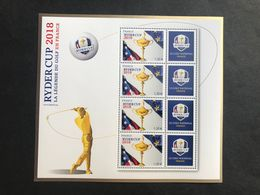 Bloc Feuillet Golf Ryder Cup 2018 Tirage 30 000 Exemplaires - Neufs