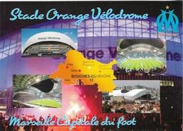 Stade De Football - Stade Orange Vélodrome - MARSEILLE Carte Géo Des Bouches Du Rhône  Capitale Du Foot - Cpm - Vierge - - Soccer