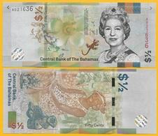 Bahamas1/2 (half) Dollar / 50 Cents P-new 2019 UNC Banknote - Bahama's