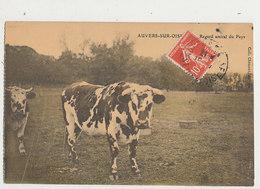 95 AUVERS SUR OISE REGARD AMICAL DU PAYS CPA DE CARNET BON ETAT - Auvers Sur Oise