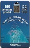 Czechoslovakia - CSFR - Výstava V Praze (Blue) - 1991, SC5, 150U, 10.000ex, Used - Czechoslovakia