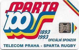 Czechoslovakia - CSFR - Sparta Praha Rugby - 1992, SC5, C-17A, 100Units, No Cn. 100.000ex, Used - Tchécoslovaquie
