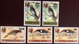 Sierra Leone 1984 Birds Surcharges MNH - Vögel