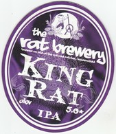 THE RAT BREWERY (HUDDERSFIELD, ENGLAND) - KING RAT- PUMP CLIP FRONT - Letreros