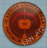USSR /  Badge / Soviet Union / Archery Shooting Summer Spartakiad Peoples 1975 - Archery