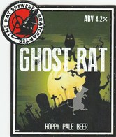 THE RAT BREWERY (HUDDERSFIELD, ENGLAND) - GHOST RAT PALE BEER - PUMP CLIP FRONT - Letreros