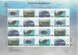 Indonesia 2010 WWF, Sea Turtles, Sheetlet Of 4 Sets. MNH** - Indonésie