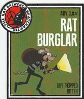 THE RAT BREWERY (HUDDERSFIELD, ENGLAND) - RAT BURGLER BITTER - PUMP CLIP FRONT - Letreros