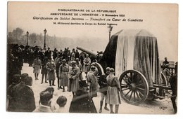 CINQUANTENAIRE REPUBLIQUE * 11 NOVEMBRE 1920* ARMISTICE * TRANSFERT GAMBETTA * MILLERAND  * CANON - Oorlog 1914-18