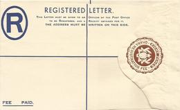 Ghana 1960 8d Brown Postal Stationary Unused Registered Envelope - Ghana (1957-...)
