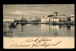 C1283 PORTUGAL - COIMBRA - CAES CAIS DA FIGUEIRA DA FOZ VIAJADA 1903 - Coimbra