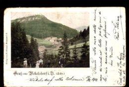 C1286 CZECH REPUBLIC - GRUSS AUSWEKELSDORF TUPLICE NAD METUJI CIRCULATED 1901 - Repubblica Ceca