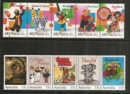 AUSTRALIE. BD Télévisés Pour Enfants En Australie. 10 Timbres Neufs ** En Bande Se-tenant - Comics