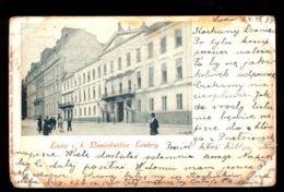 C1290 UKRAINE (EX POLAND) - LWOW LEMBERG LVIV - NAMIESTNICTWO THEATRE CIRCULATED 1899 - Ucraina