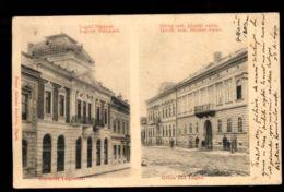 C1291 ROMANIA EX HUNGARY -  GRUSS AUS LUGOS LUGOJ - LUGOSI NEPBANK \ GOROG KATH PUSPOKI PALOTA CIRCULATED - Romania
