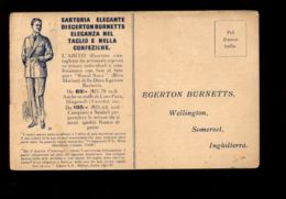 C1307 SARTORIA ELEGANTE DI EGERTON BURNETTS WELLINGTON SOMERSET INGHILTERRA TAILOR DRESSMAKER - Mestieri
