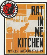 THE RAT BREWERY (HUDDERSFIELD, ENGLAND) - RAT IN ME KITCHEN IPA - PUMP CLIP FRONT - Letreros