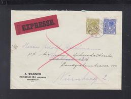 Expres Brief 1932 Hengelo Nürnberg - 1891-1948 (Wilhelmine)