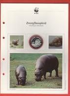 30 JAHRE WWF - Silber Gedenkmünze Silver Coin / Ag 999 PP / Tiere Animals Animaux Zwergflußpferd Choeropsis Liberiensis - Münzen
