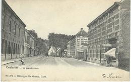 OOSTACKER : La Grande Route - RARE VARIANTE - Cachet De La Poste 1905 - Gent