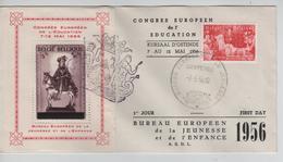 """SJ103/ TP 964-PR123 Congrés Européen De L""""Education C Bureau Européen 7/5/1956 - Covers & Documents"""