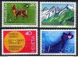 Zu 578-581 / Mi 1079-1082 / YT 1009-1012 Série Complète ** / MNH Voir Description - Svizzera