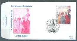 BELGIUM - 1.9.1984 - FDC - JAME ENSOR  RODAN 725 MENEN - COB 2141 -  Lot 19584 - FDC