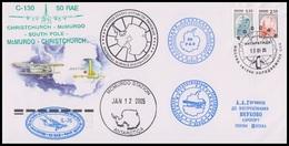 "RAE-50 RUSSIA 2004 COVER Used ANTARCTIC EXPEDITION FLIGHT AIRPLANE ""IL-76"" AEROPLANE Station McMURDO USA BASE Mailed - Polar Flights"