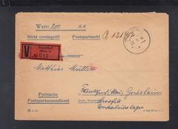 Alliierte Besetzung Wertbrief Frankfurt Am Main 1946 Postsache - Bizone