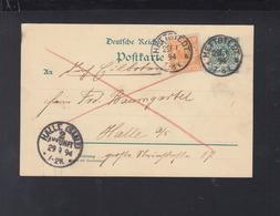 Dt. Reich Expres GSK Mit ZuF 1894 Hettstedt Nach Halle - Germany