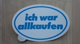 Aufkleber Mit Werbung Für Einen Supermarkt Aus Deutschland (Allkauf) - Aufkleber