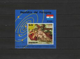 Paraguay 1975 Space, Michelangelo, S/s MNH - Espacio