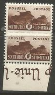 South Africa - 1942 Tanks 1/- Margin Pair MNH **   SG 104  Sc 97 - South Africa (...-1961)