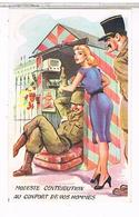 Illustrateur Louis Carriere  N°389 Pin Up 9x14 MODESTE  CONTRIBUTION    BE   PH816 - Illustratori & Fotografie