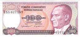 100 Türk Lira Banknote Türkei VF/F (III) 1970 - Turquie