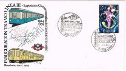 32991. Carta BARCELONA 1974. 50 Aniversario METRO, Metropolitano S.A. Linea III - 1931-Hoy: 2ª República - ... Juan Carlos I