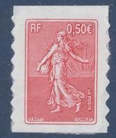 N° 36 , Semeuse De Roty  Valeur Faciale 0,50 € - Adhésifs (autocollants)