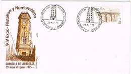 32992. Carta CORNELLÁ De LLOBREGAT (Barcelona) 1975. Exposicion. Torre De La MIRANDA - 1931-Hoy: 2ª República - ... Juan Carlos I