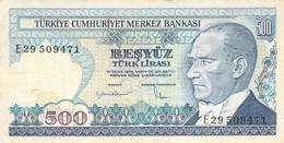 500 Türk Lira Banknote Türkei VF/F (III) 1970 - Turquie