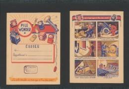 Publicité - Protege-Cahier - PILE WONDER - Batterijen