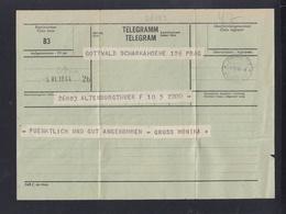 Böhmen Mähren Telegramm 1944 - Ocupación 1938 – 45