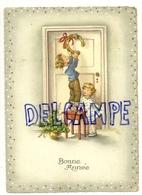 Bonne Année. Deux Enfants, Fer à Cheval, Trèfles - Nouvel An