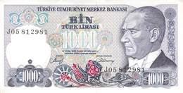 1000 Türk Lira Banknote Türkei VF/F (III) 1970 - Turquie