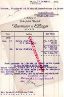 ALLEMAGNE-DURLACH-HERRMANN & ETTLINGER-LEDERFABRIK BADEN   A VERGNIAUD RATINAUD SAINT JUNIEN GANTERIE-1931 - Petits Métiers