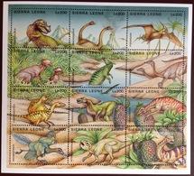 Sierra Leone 1995 Prehistoric Animals Birds Sheetlet MNH - Prehistorisch