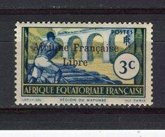 AFRIQUE EQUATORIALE FRANCAISE - A.E.F. - Y&T N° 94** - Région Du Mayumbe Surcharge AFRIQUE FRANCAISE LIBRE - A.E.F. (1936-1958)