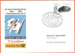 GERMANIA - GERMANY - Deutschland - ALLEMAGNE - BUNDESPOST - 2003 - 56 Flussperlmuschel + Special Cancel Deutsche Schiffs - [7] Repubblica Federale