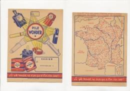 Publicité - Protege-Cahier - PILE WONDER - Baterías